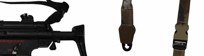 Weapon Slings and gun slings for police, military and airsoft use.