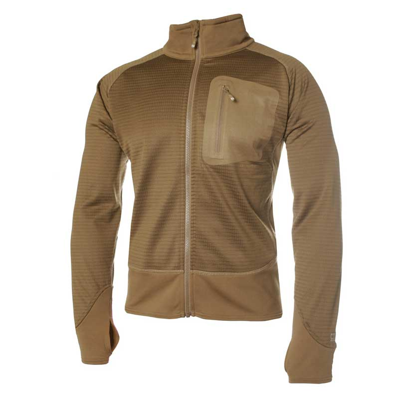 Blackhawk Grid Fleece Jacket, Coyote Tan tactical