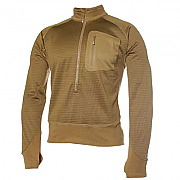 Blackhawk 3/4 Zip Grid Fleece Pullover - Coyote Brown
