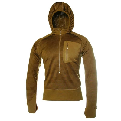 Blackhawk 3/4 Zip Grid Fleece Hoody - Coyote Brown