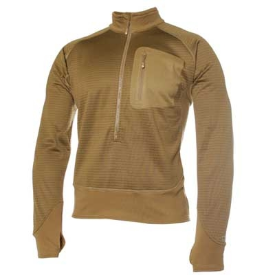Blackhawk 3/4 Zip Grid Fleece Pullover, Coyote Brown